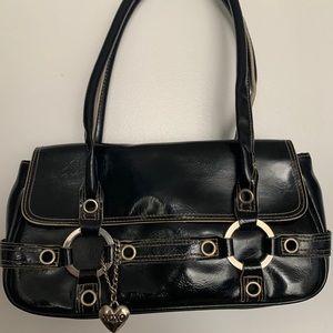 XOXO Black Patent Handbag